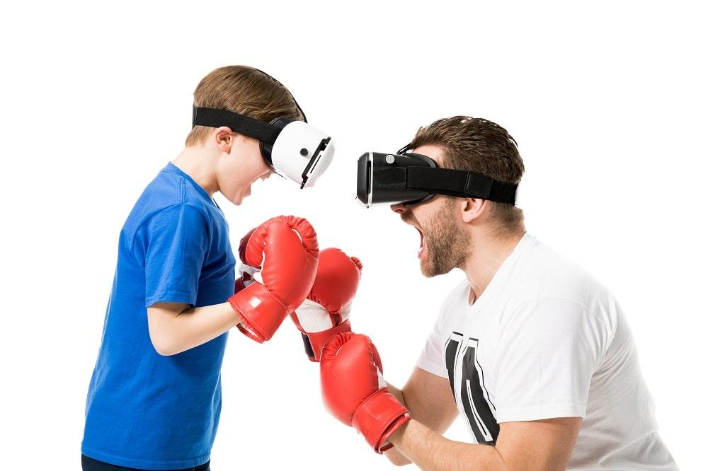 Gezellig met het gezin ervaren wat Virtual Reality mogelijk maakt
